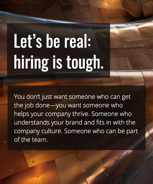 Let's be real: hiring is tough. Proliance Consulting can help.
